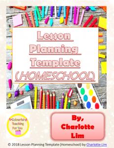 https://www.teacherspayteachers.com/Product/Lesson-Planning-Template-Homeschool-4129141